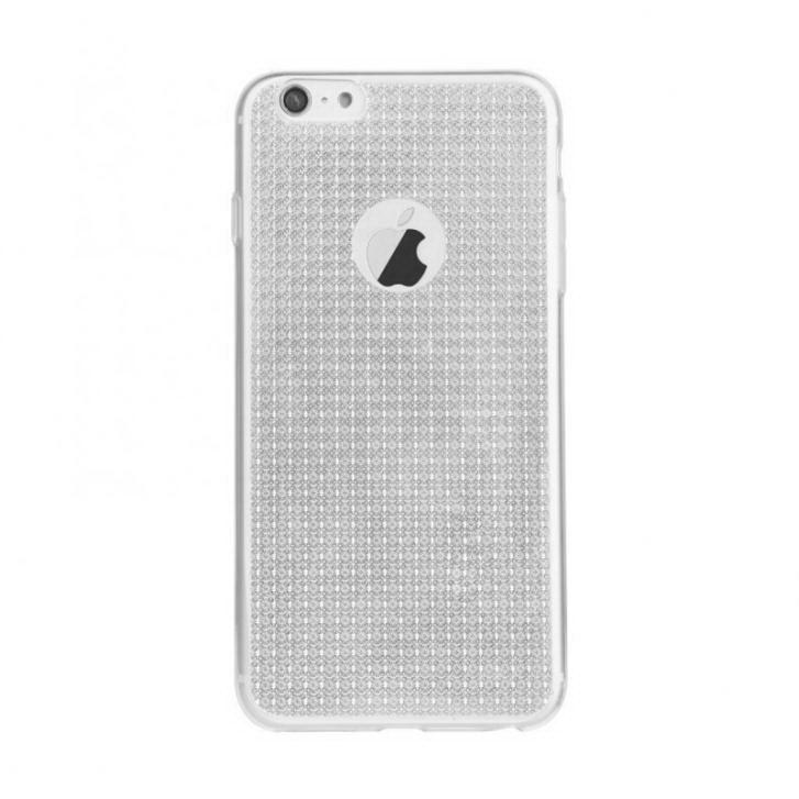Силиковый чехол Baseus Bling серебристый для iPhone 6 Plus/6S Plus