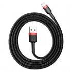 Lightning кабель Baseus Cafule красный+черный 1.5A 2м