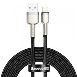 Lightning кабель Baseus Cafule Series Metal Data Cable 2.4A 2m (CALJK-B01) чёрный
