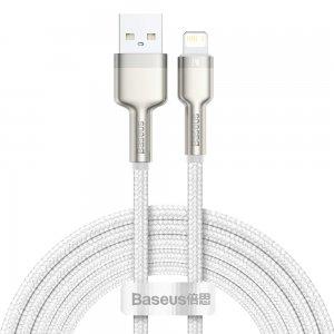 Lightning кабель Baseus Cafule Series Metal Data Cable 2.4A 2m (CALJK-B02) белый