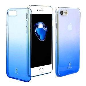 Полупрозрачный чехол Baseus Glaze синий для iPhone 8/7/SE 2020