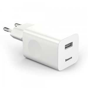 Сетевое зарядное устройство Baseus Charging Quick Charger EU 2.1A белое