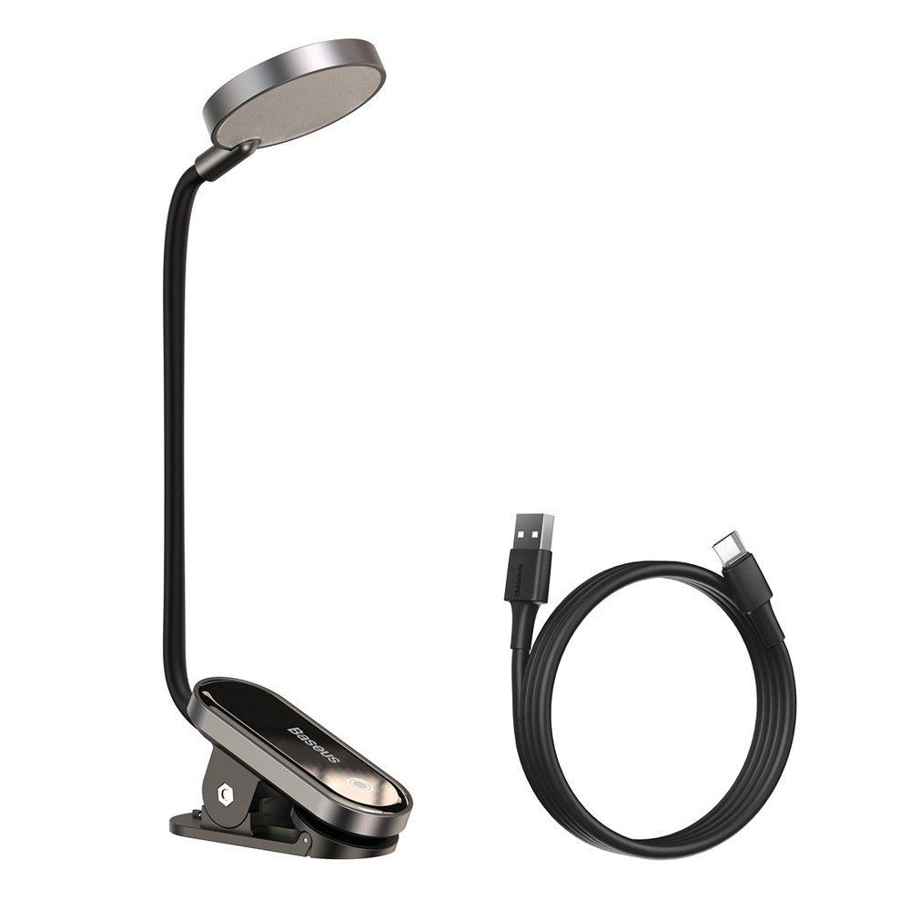 Лампа Baseus Comfort Reading Mini Clip Lamp (DGRAD-0G) темно-серая