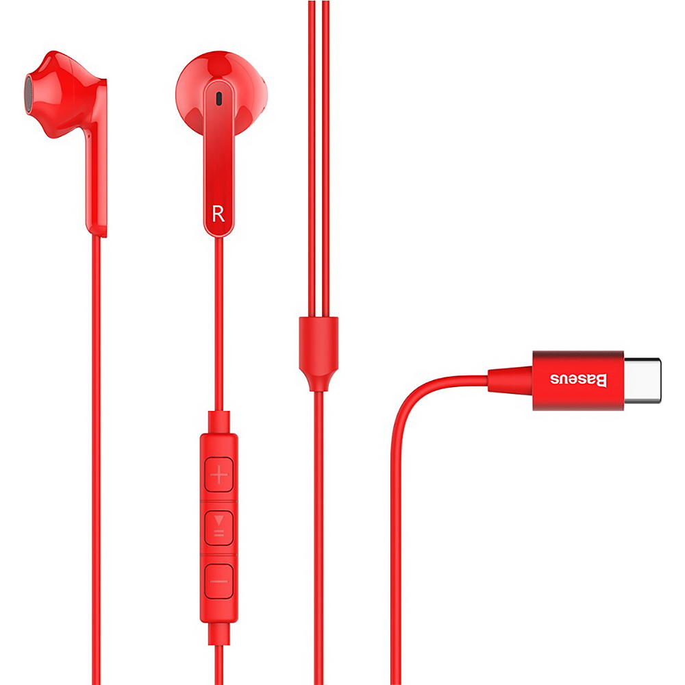 Наушники Baseus Encok C16 красные