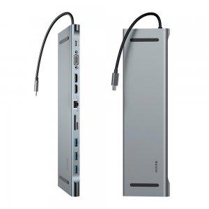 Хаб Baseus Enjoyment Series Multi-functional Type-C Intelligent HD серый