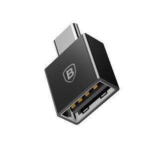 Переходник Baseus Exquisite Type-C Male to USB Female Adapter Converter (CATJQ-B01) чёрный