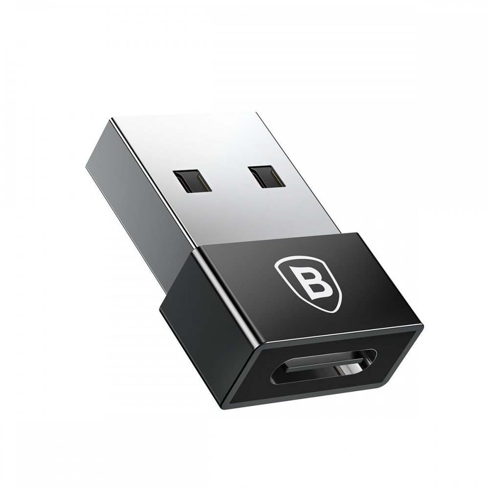 Переходник Baseus Exquisite USB Male to Type-C Female Adapter Converter (CATJQ-A01) чёрный
