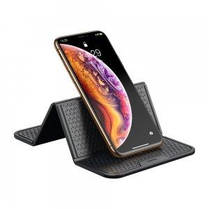 Антискользящий силиконовый коврик Baseus Folding Bracket Antiskid Pad черный