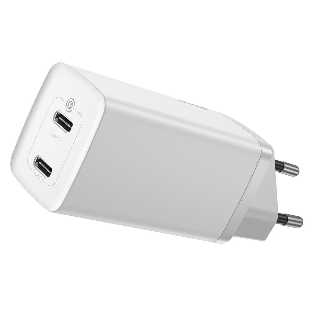Сетевое зарядное устройство Baseus GaN2 Lite Quick Charger C+C 65W (CCGAN2L-E02) белое