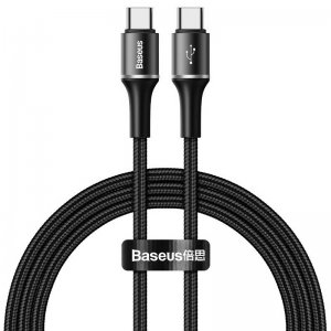 Кабель Baseus halo data cable Type-C PD2.0 60W (20V 3A) 1m черный