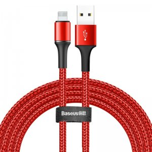 Lightning кабель Baseus Halo Data Cable USB 1.5A 2m красный