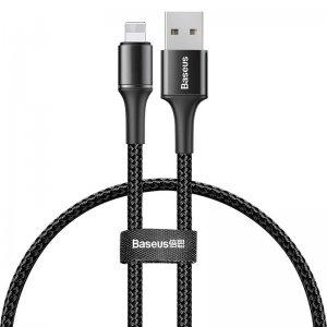 Lightning кабель Baseus Halo Data 2.4A 0.25m чёрный