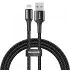 Lightning кабель Baseus Halo Data Cable USB 2.4A 1m чёрный
