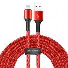 Lightning кабель Baseus Halo Data Cable USB For iP 2A 3м красный