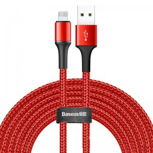 Lightning кабель Baseus Halo Data Cable USB For iP 2A 3м красный