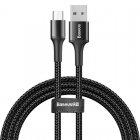 Кабель Baseus halo data cable USB For Micro 3A 1m черный