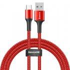 Кабель Baseus halo data cable USB For Micro 3A 1m красный