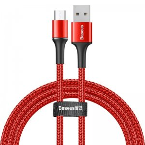 Кабель Baseus halo data cable USB For Micro 3A 1m красный
