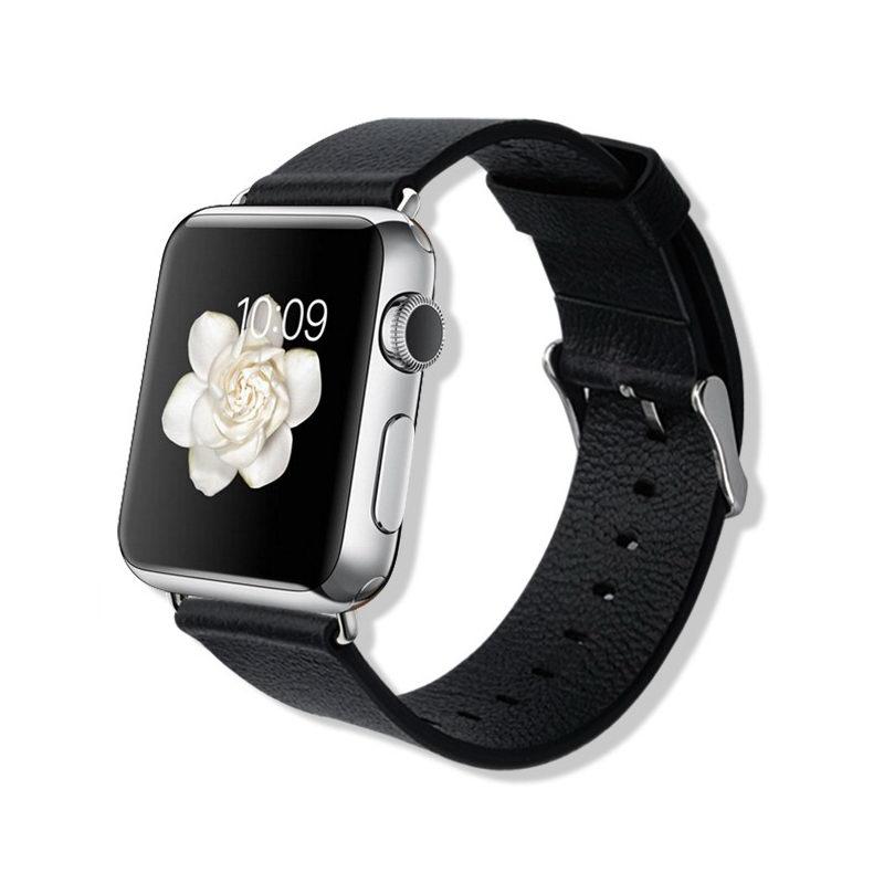 Ремешок Baseus Classic Buckle черный для Apple Watch 38/40 мм