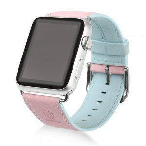 Ремешок Baseus Colorful розовый + синий для Apple Watch 38/40 мм