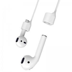 Шнур-фиксатор Baseus Strap белый для наушников Apple AirPods