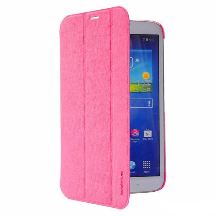 Чехол (книжка) Baseus Folio розовый для Samsung Galaxy Tab 3 8.0