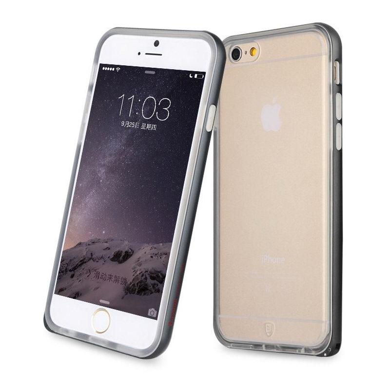 Силиконовый чехол Baseus Fusion черный для iPhone 6/6S