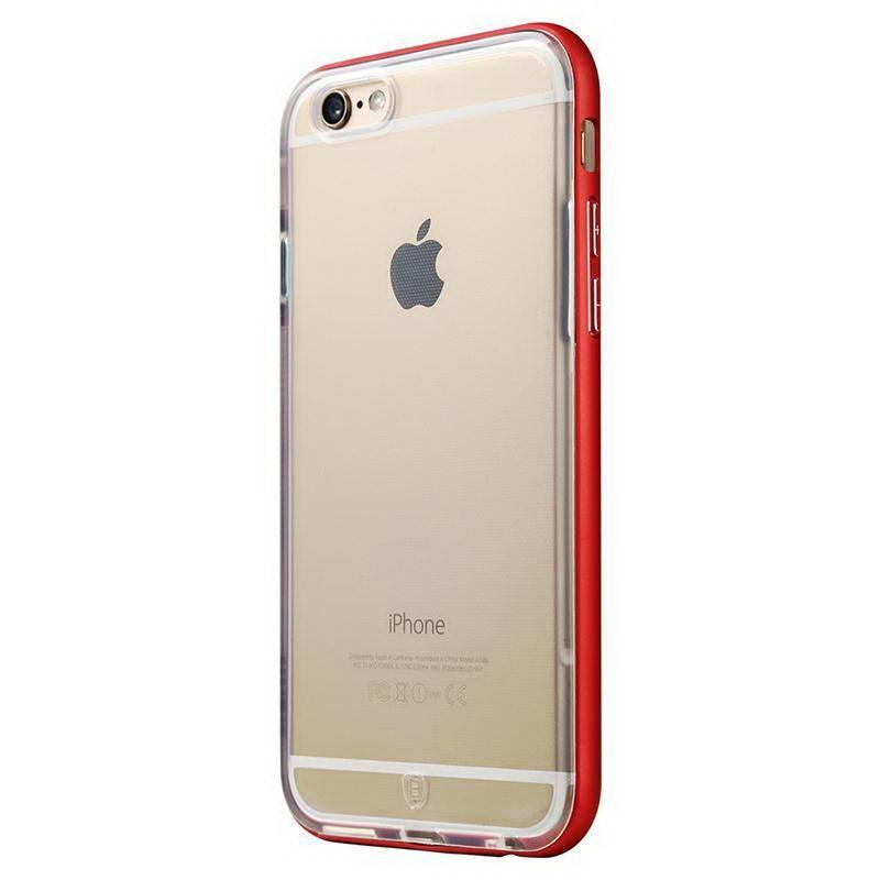 Силиконовый чехол Baseus Fusion красный для iPhone 6 Plus/6S Plus