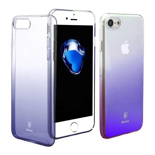 Полупрозрачный чехол Baseus Glaze чёрный для iPhone 8/7/SE 2020