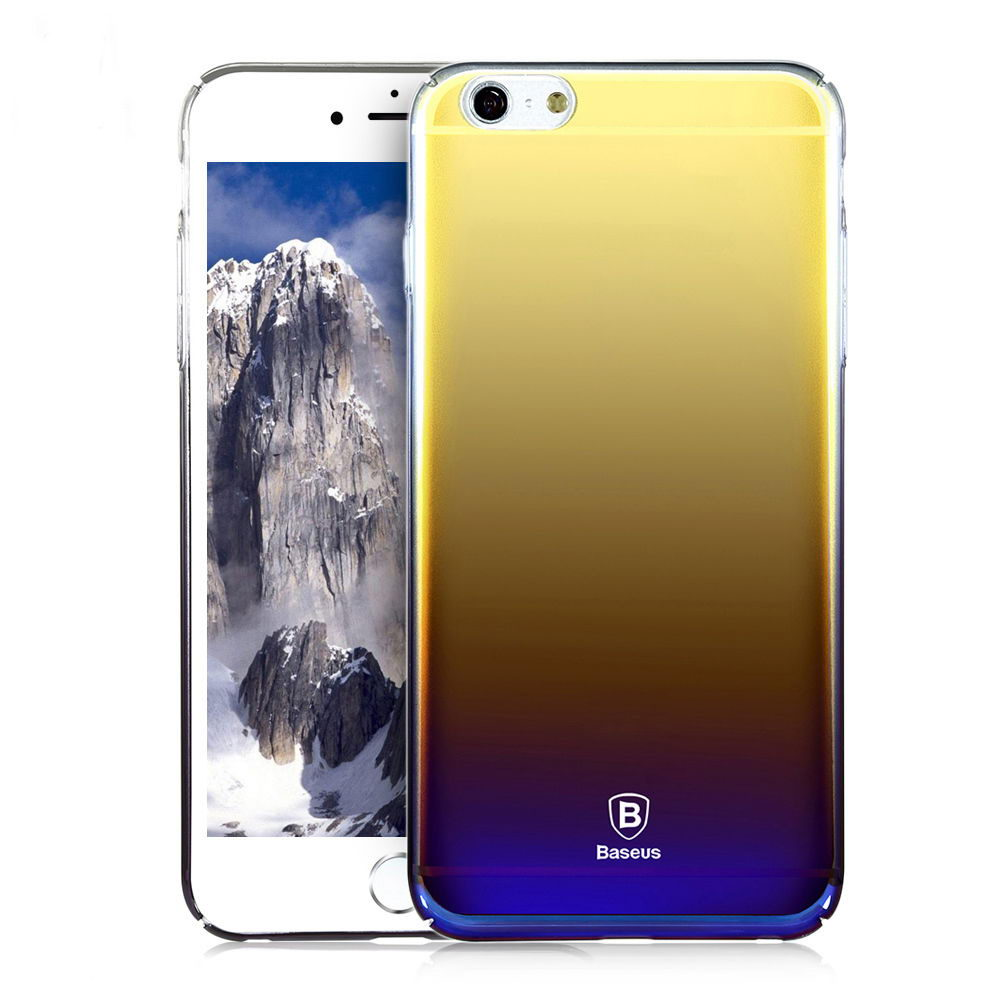 Полупрозрачный чехол Baseus Glaze чёрный для iPhone 6/6S
