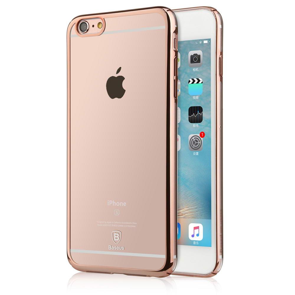 Пластиковый чехол Baseus Glitter розовое золото для iPhone 6/6S