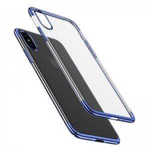 Чехол Baseus Glitter синий для iPhone X/XS