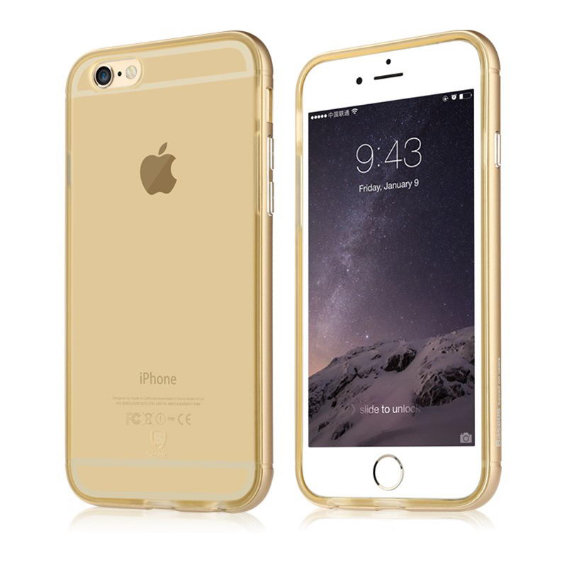 Полупрозрачный чехол Baseus Golden золотой для iPhone 6S