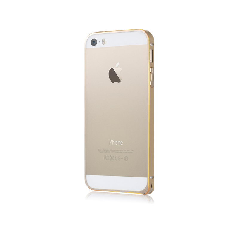 Бампер Baseus Golden Light золотой для iPhone 5/5S/SE
