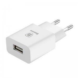 Сетевое зарядное устройство Baseus Letour 2.1 Amp, белое