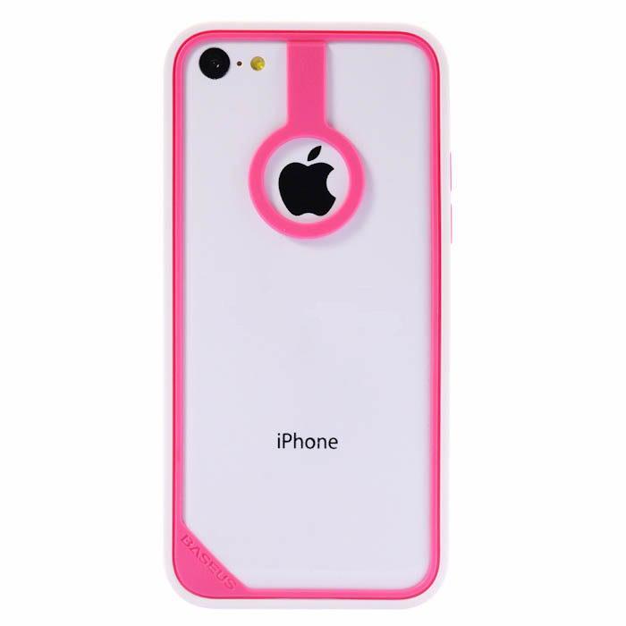 Пластиковый бампер Baseus New Age белый + розовый для iPhone 5C