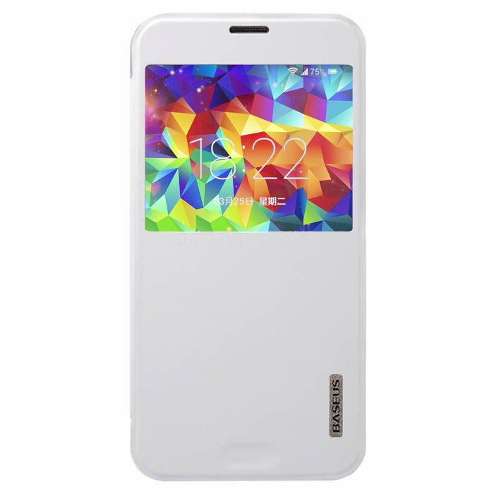 Чехол (книжка) BASEUS Primary color белый для Samsung Galaxy S5
