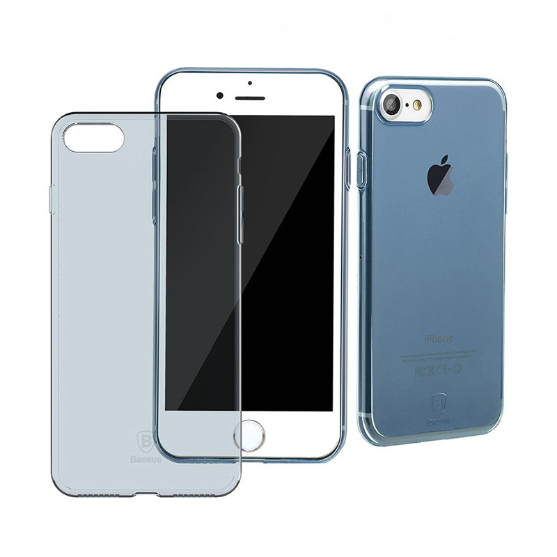Полупрозрачный чехол Baseus Simple синий для iPhone 8/7/SE 2020