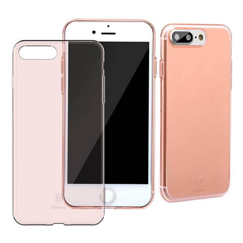 Полупрозрачный чехол Baseus Simple розовый для iPhone 8 Plus/7 Plus