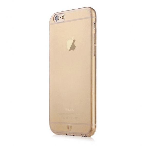 Полупрозрачный чехол Baseus Simple золотой для iPhone 6/6S