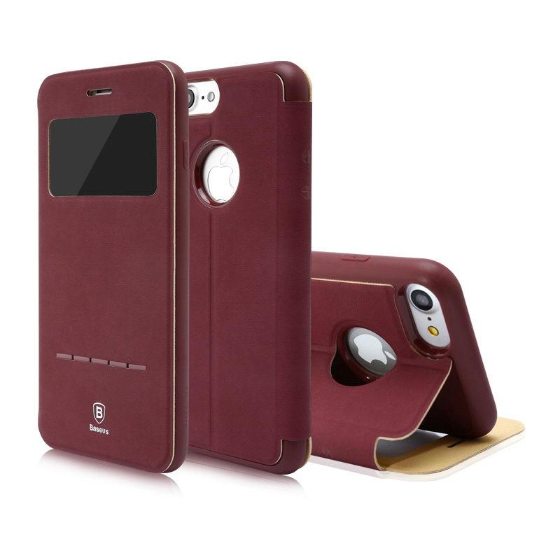 Чехол (книжка) с подставкой Baseus Simple красный для iPhone 8/7/SE 2020