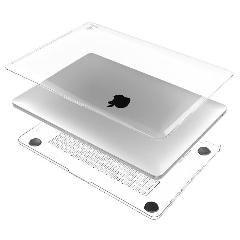 """Пластиковый чехол Baseus Sky белый для MacBook Pro 13"""""""