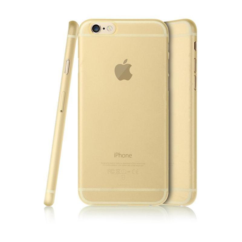 Полупрозрачный чехол Baseus Slender золотой для iPhone 6 Plus/6S Plus