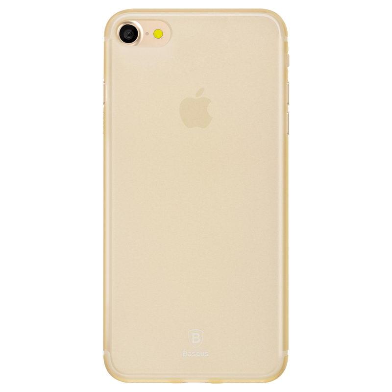 Полупрозрачный чехол Baseus Slim золотой для iPhone 8/7/SE 2020