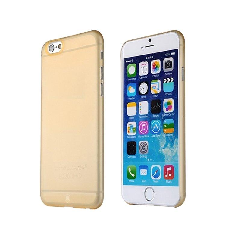Полупрозрачный чехол Baseus Slim золотой для iPhone 6 Plus/6S Plus