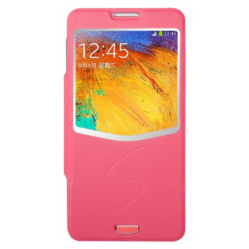Чехол (книжка) BASEUS Ultrathin Folder розовый для Samsung Note 3