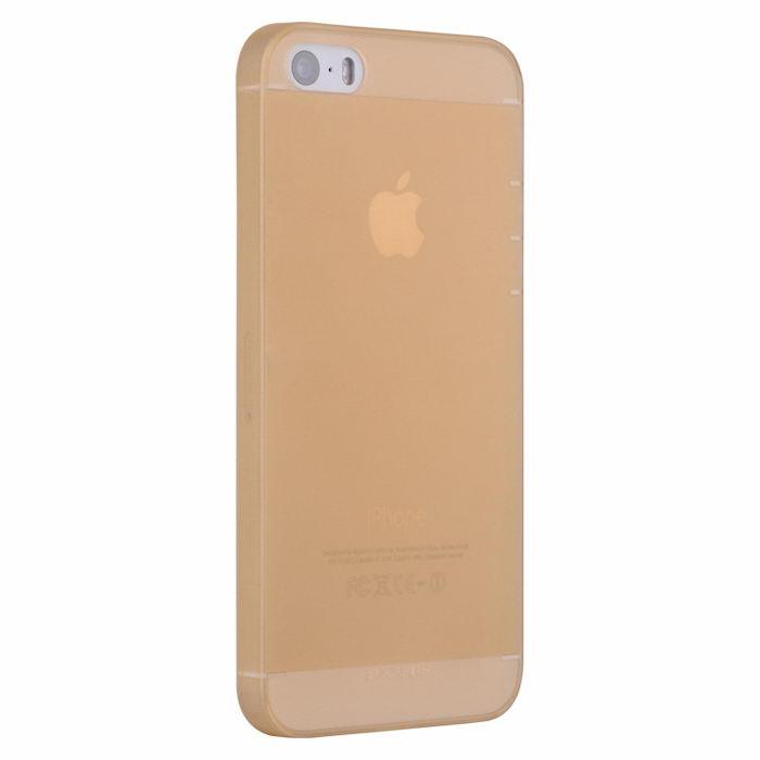 Полупрозрачный чехол BASEUS Wing золотой для iPhone 5/5S/SE