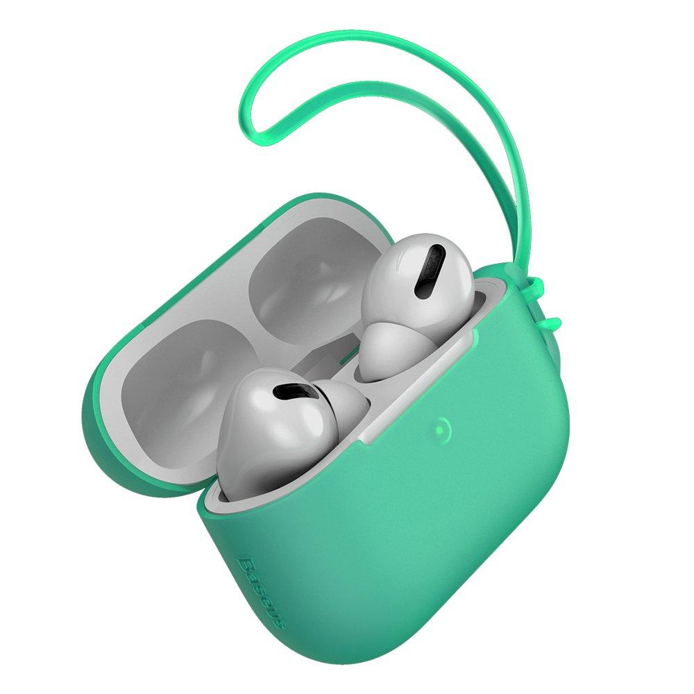 Чехол Baseus Let's Go Jelly Lanyard зелёный для Airpods Pro