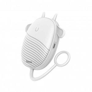 Портативная грелка для рук с ночником Baseus Little Tail Camping Light Hand Warmer белая
