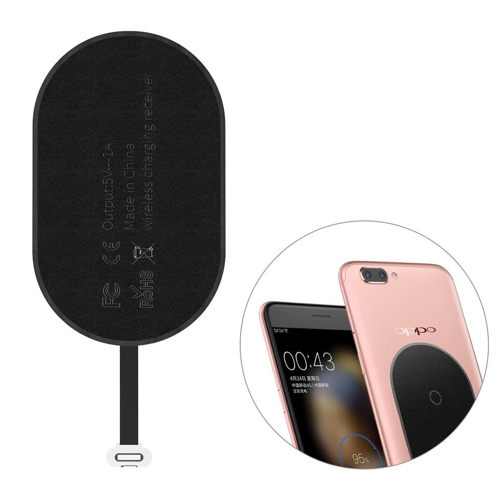 Беспроводной трасмиттер для micro-usb устройств Baseus Microfiber Wireless Charging Receiver черный